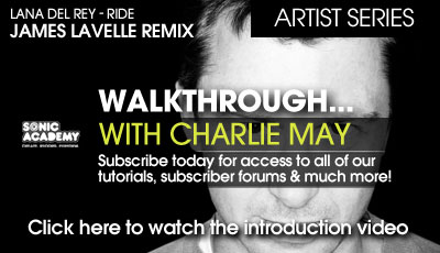 Sonic Academy Artist Series Walkthrough with Charlie May Lana Del Rey Ride TUTORiAL-SYNTHiC4TE