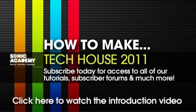 Sonic Academy How to Make Tech House 2011 R3 TUTORIAL-SYNTHIC4TE