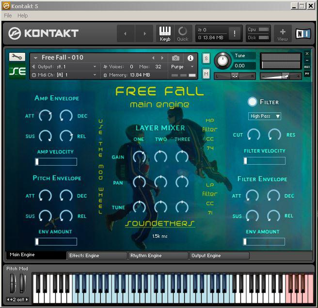 Sound Ethers Free Fall KONTAKT
