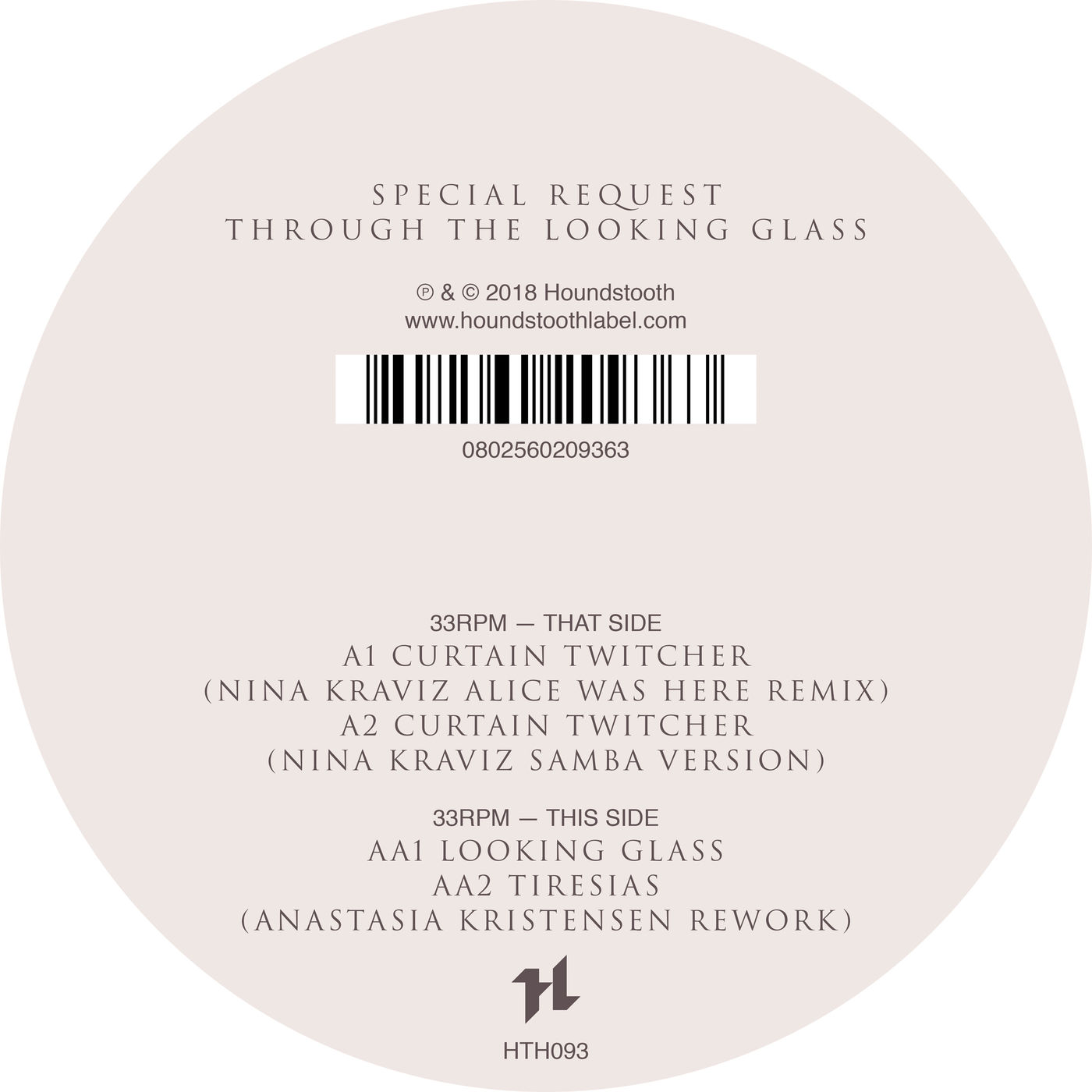 Special Request & Nina Kraviz - Through The Looking Glass [HOUNDSTOOTH]