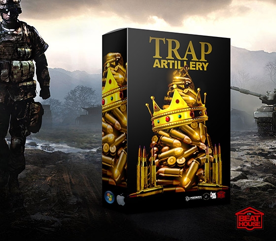 The Beat House Trap Artillery Drum Kit WAV