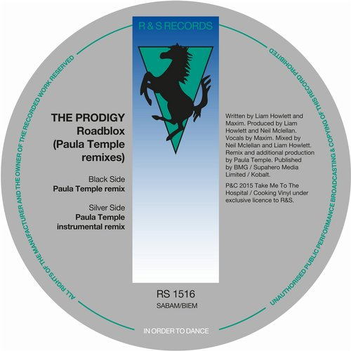 The Prodigy - Roadblox (Paula Temple Remixes) [RS1516D]