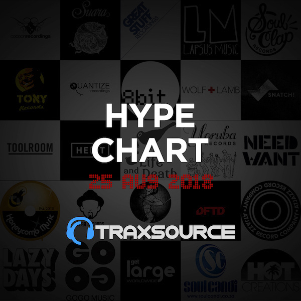 Traxsource Hype Chart (25 Aug 2018)