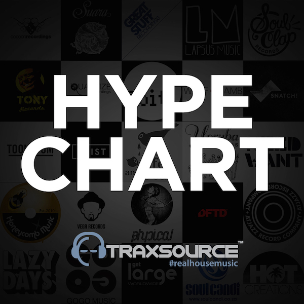 Traxsource Hype Chart August 22nd 201