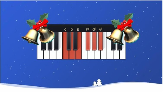 Udemy Learn Piano Christmas Song 2 Play Dreamy Silver Bells TUTORiAL