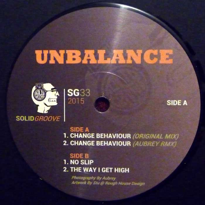 Unbalance, Aubrey ‎- Change Behaviour EP [SG33]