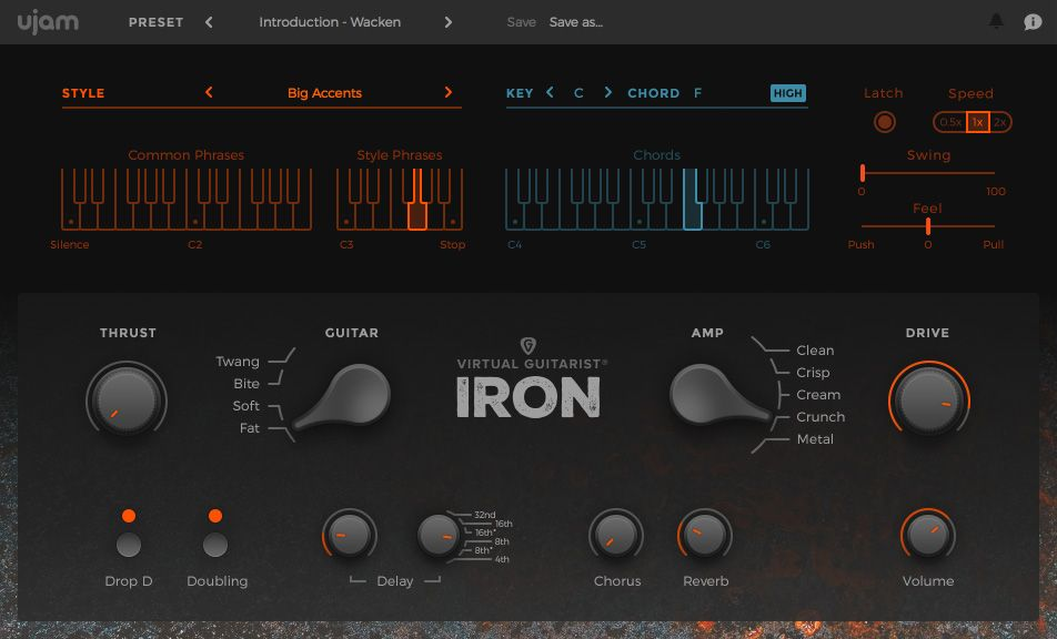 UJAM VIRTUAL GUITARIST IRON 1.0.1 VSTI X86 X64 СКАЧАТЬ БЕСПЛАТНО