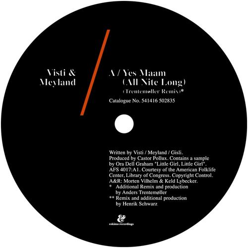 Visti & Meyland - Yes Maam (All Nite Long) [541416502835D]