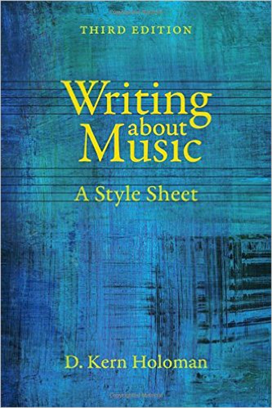 Writing About Music: A Style Sheet, 3rd edition