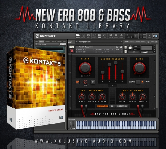 Xclusive Audio New Era 808 & Bass Library KONTAKT