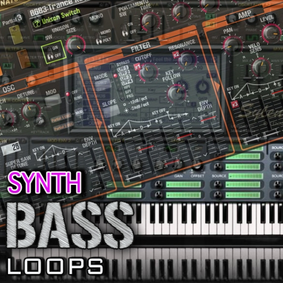 Zion Music Synth Bass Loops WAV MiDi