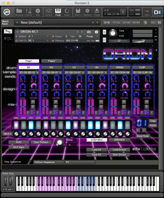 echo collective Orion KONTAKT